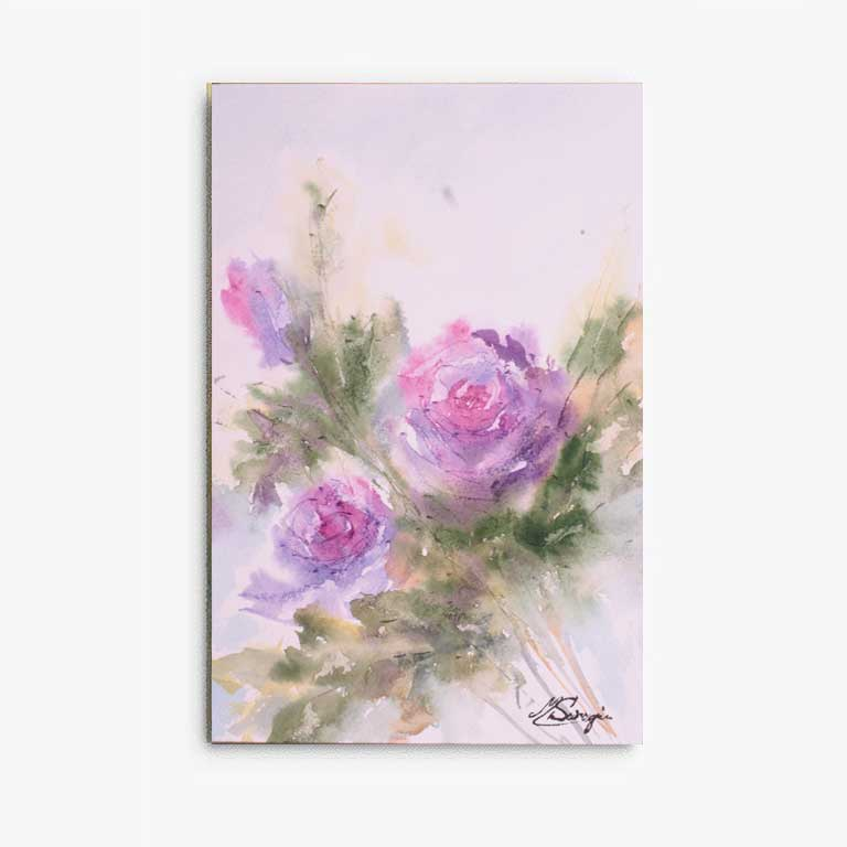 flowers painted with watercolor
