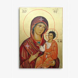 painting the icon in oil